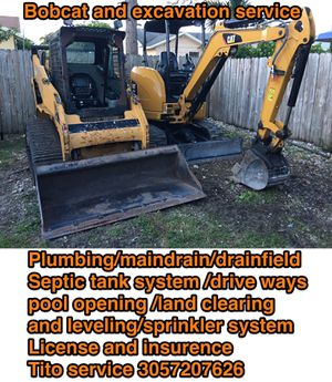 excavation bobcats backhoe for Sale in Davie, FL