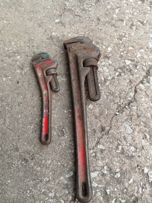Ridges old pipe wrenches for Sale in Oklahoma City, OK