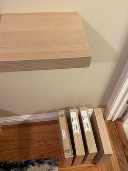 Five (5) Floating wall shelves for Sale in Sunnyvale,  CA