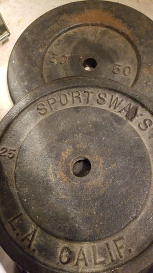 Weights (2 - 50lbs 2 - 25lbs) $50 for all for Sale in Trabuco Canyon, CA