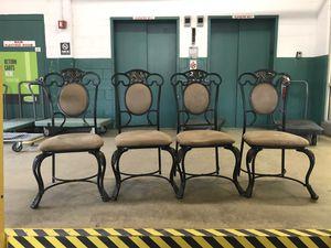 4 metal chairs ~ $125 for Sale in Arlington, VA