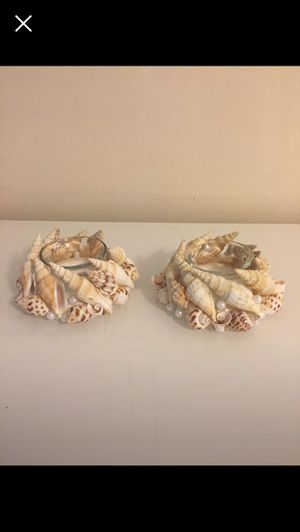 Two Seashell Tea Light Candle Holders. for Sale in Pembroke Pines, FL
