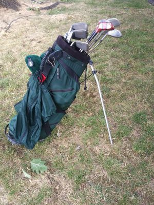 The bag is Belding the club's are light&Easy Oversize two extra Wilson clubs for Sale in Gresham, OR
