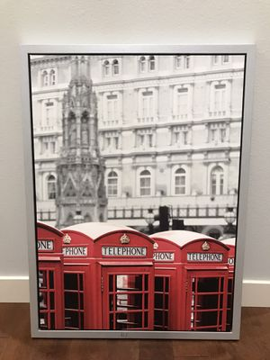 Silver framed London canvas for Sale in Tacoma, WA
