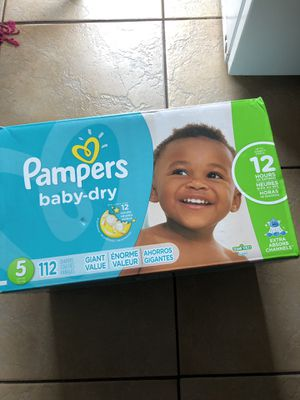 Pampers diapers size 5 for Sale in Tacoma, WA