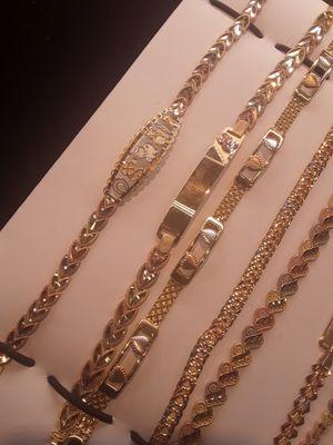 14k gold bracelets free engraving for Sale in Pomona, CA