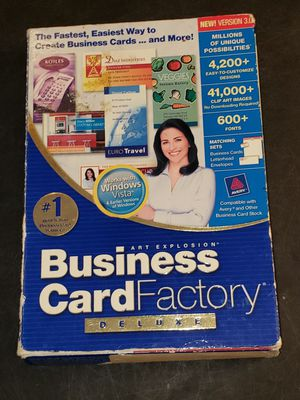 Art explosion business card Factory Deluxe version 3.0 computer user-friendly software for Sale in Boca Raton, FL
