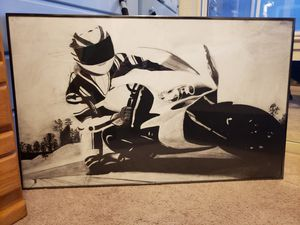 Yamaha R1 2004 2005 Charcoal Drawing in Frame for Sale in La Honda, CA