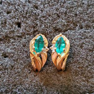 10k emerald diamond earrings for Sale in PA, US