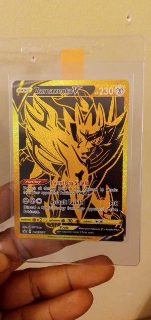 Zacian V gold and zamazenta V gold for Sale in Brentwood, NC