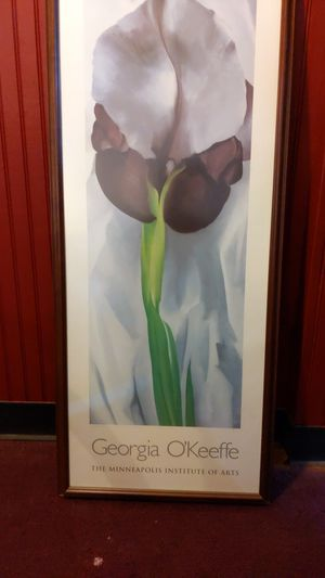 Georgia O'Keefe flower art picture frame for Sale in Cleveland, OH