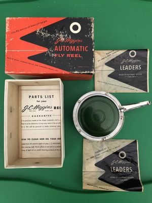 Vintage JC Higgins automatic fly fishing reel with box and paperwork for Sale in Peoria, AZ