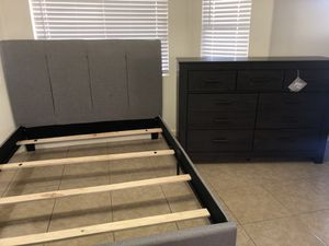 Ashley furniture NEW DRESSER AND QUEEN SIZE BED FRAME $425 for Sale in Phoenix, AZ