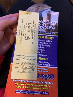 Dolphin adventure tickets vacation for two for Sale in Port Aransas, TX