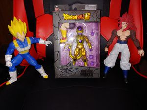 Dragon Ball Z action figure collection Gugeta Golden Frieza SS Vegeta for Sale in Peoria, AZ