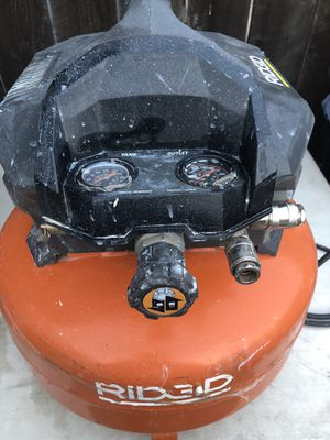 RIDGID 6 Gal. Portable Electric Pancake Air Compressor for Sale in La Habra, CA