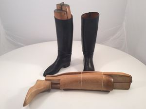 Vintage boot form with boots for Sale in Durham, NC