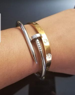 Love and Nail Bracelet Bundle size 16cm for Sale in Silver Spring, MD
