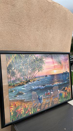 Island Scene Puzzle In Frame for Sale in Torrance, CA