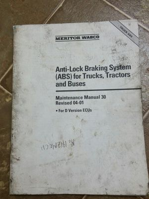 Anti-lLock Braking System (ABS) for Trucks, Tractors and Buses Manual 30 for Sale in Sacramento, CA
