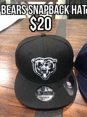 NFL new era Chicago Bears black white logo 9fifty SnapBack hat cap for Sale in La Puente, CA