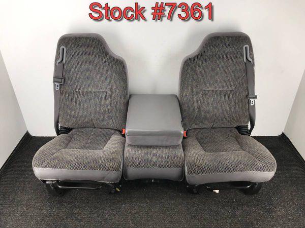 2000 Dodge Ram 1500 2500 3500 Truck Front Bucket Console Seats Seat Stock 7361