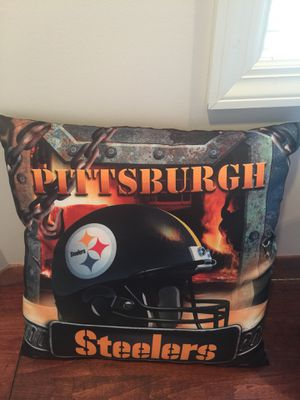 Steelers decor- nightlight and pillow for Sale in Pittsburgh, PA