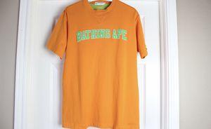Vintage Orange Bape Tee Shirt Large for Sale in Mansfield, TX