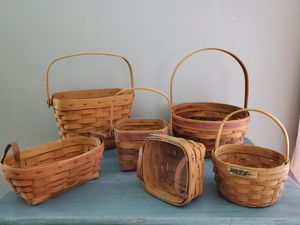 Lot of Six Assorted Longaberger Baskets for Sale in Glenwood, IA
