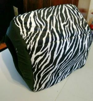 Small zebra print indoor dog house for Sale in McLoud, OK