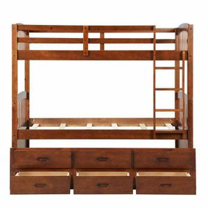 Bunk bed three twin with three draws for Sale in Allentown, PA