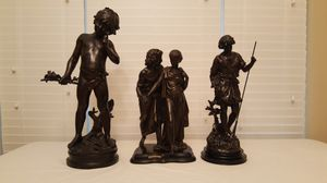 Bronze Moreau Spelter Sculptures Collection Francaise for Sale in Wylie, TX