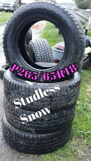 """Set of 18"""" Studless Snow tires for Sale in Sandy, OR"""