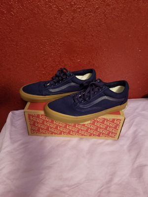 Navy blue and tan vans for Sale in Whittier, CA