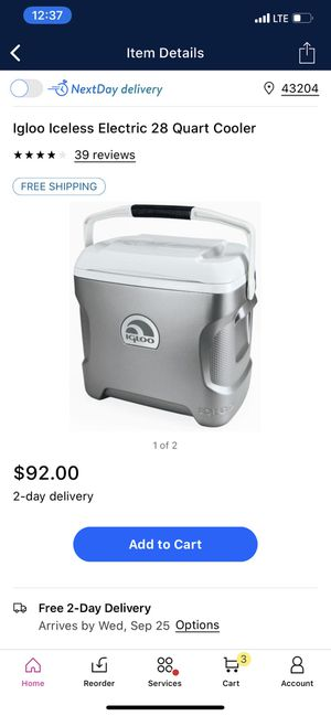 Ice less igloo 28 cooler for Sale in Newark, OH