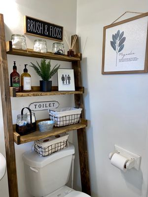 Over the toilet leaning ladder shelves for Sale in Whittier, CA