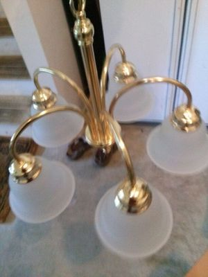 Five light chandelier with all glass globes for Sale in Vienna, VA