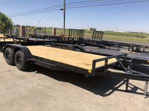 2019 brand new 18 x82 car hauler 7000 gvwr with brake and ramps Finance available for Sale in Odessa, TX