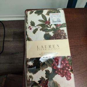 Ralph Lauren Set Of 4 Cloth Napkins for Sale in Arlington, VA