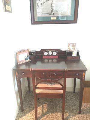 Victorian 1900's English Designed Mahogany Desk & Chair for Sale in Pembroke Pines, FL