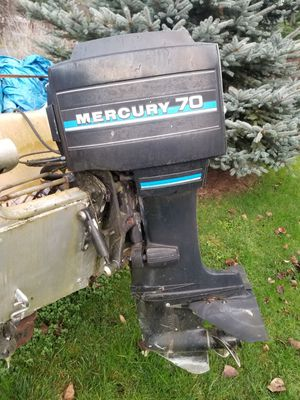 Mercury 70 Outboard Motor w/ Boat for Sale in Fall City, WA