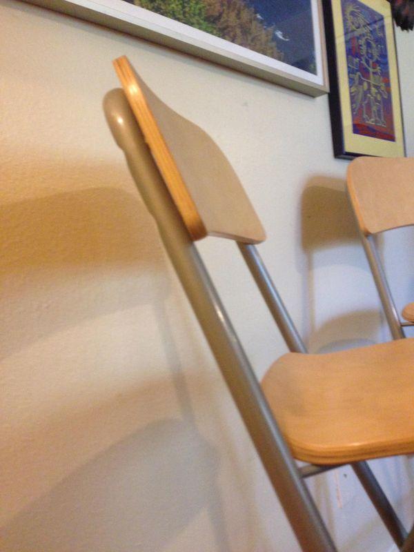 IKEA Franklin bistro bar stool wood metal pub table chairs