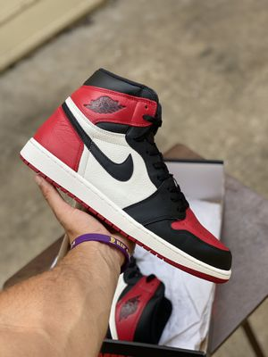"""Jordan 1 High """"Bred Toe"""" size 12.5 WORN ONCE for Sale in Euless, TX"""