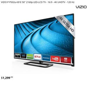 VIZIO P502ui-B1E 50-Inch 4K Ultra HD Smart LED HDTV 120Hz for Sale in Kansas City, KS