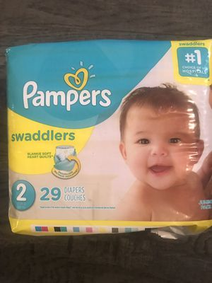 Pampers swaddlers size 2 for Sale in San Bernardino, CA