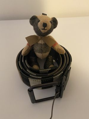 Men's Burberry belt and teddy bear 110/44 for Sale in Pittsburgh, PA