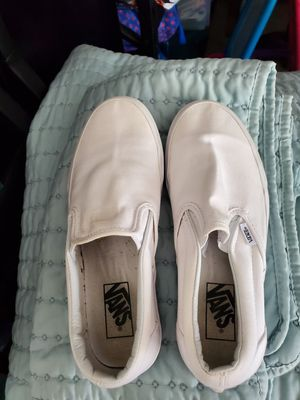 Womens 8.5 white vans for Sale in Moreno Valley, CA
