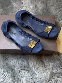 Louis Vuitton Blue Suede Flats. for Sale in Philadelphia,  PA