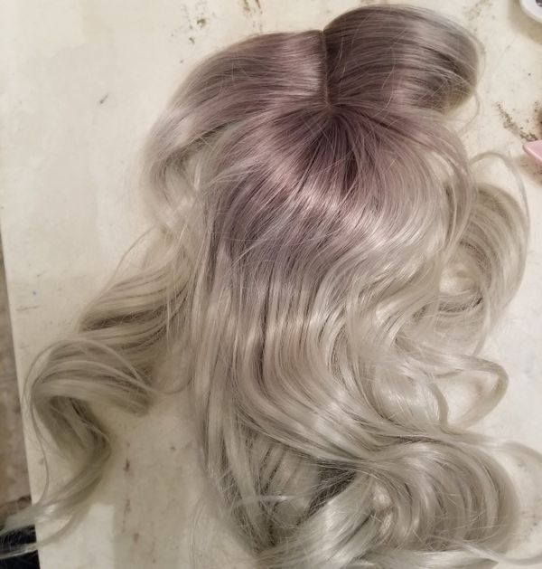 New Platinum Synthetic Hair Topper