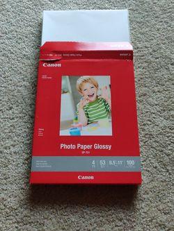 Canon Glossy Photo Paper for Sale in Alexandria,  VA